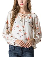 Lookatool Women's Casual Blouse Floral T-Shirt Tank Top Shirts Crew Vest