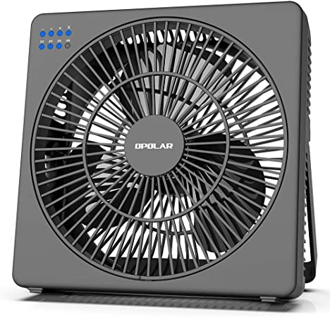 OPOLAR 8 Inch Desk Fan with Timer, USB Operated