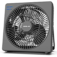 OPOLAR 8 Inch Desk Fan(Included Adapter), USB Operated, 4 Speeds+Natural Wind, Timer, Quiet Operation, Seven Blades…