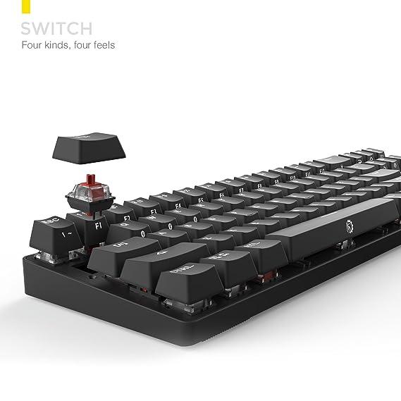 DREVO Calibur Teclado mecánico Inalámbrico Bluetooth 4.0 71 teclas retroiluminado RGB (Switch Rojo, Negro): Amazon.es: Electrónica