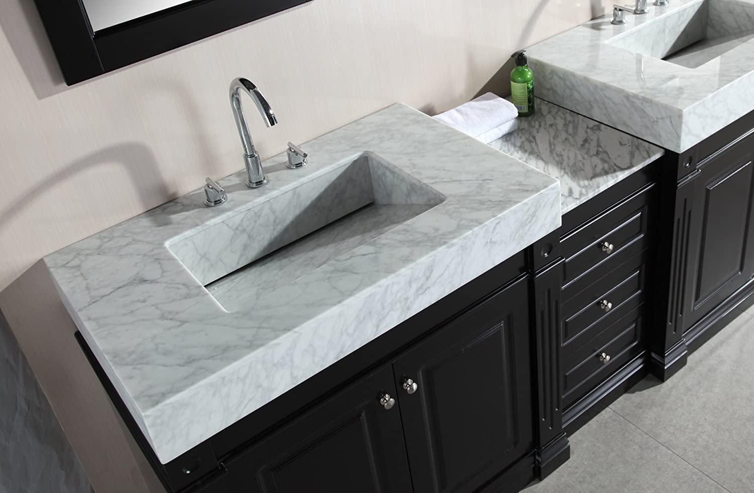 double bathroom vanity sink. design element odyssey double trough style sink vanity set, 90-inch - bathroom vanities amazon.com 3