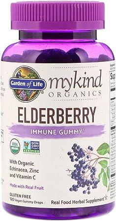 Garden of Life MyKind Organics Vegan Elderberry Immune Gummy