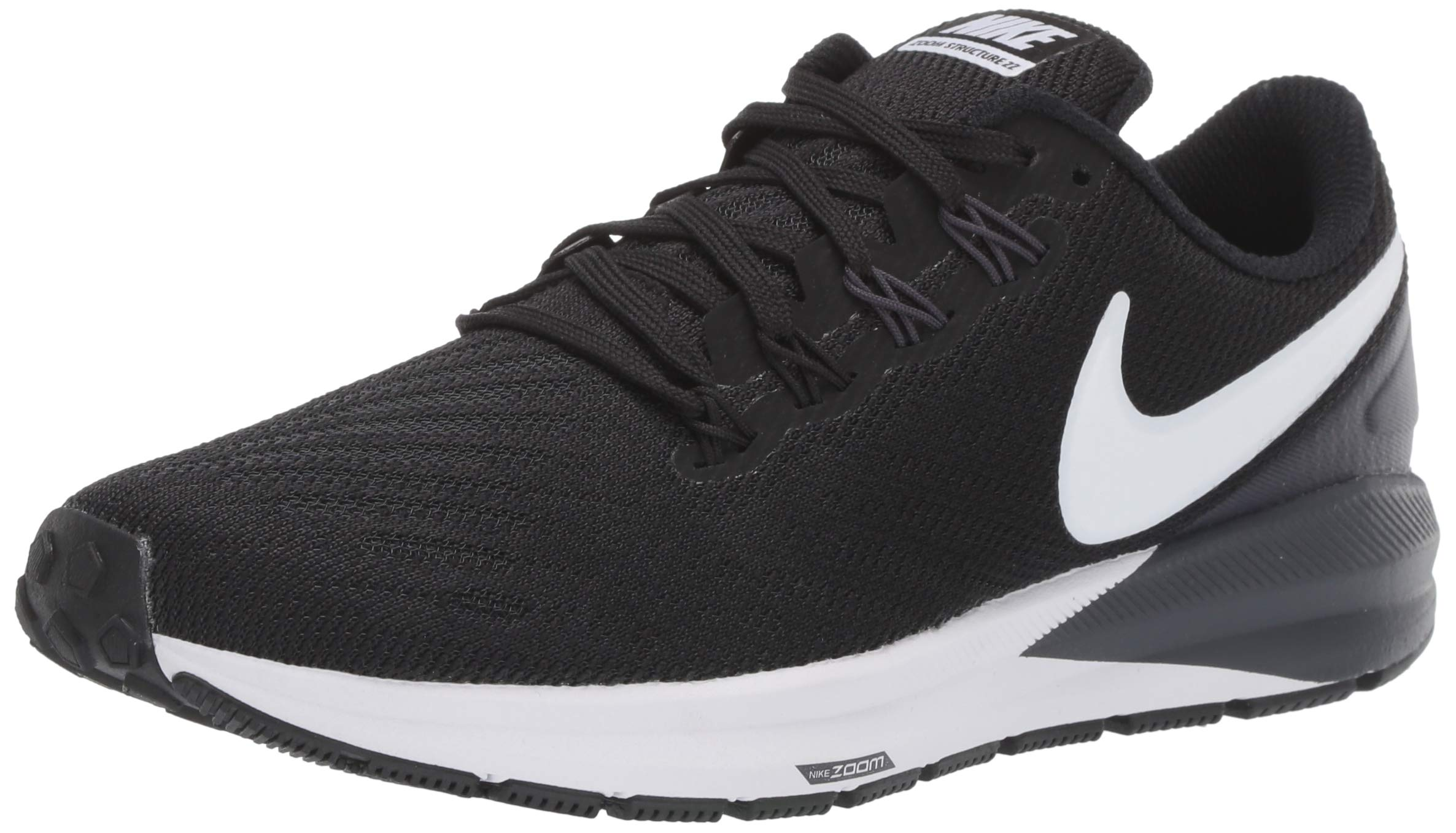 Nike Women's Air Zoom Structure 22 Running Shoe Black/White/Gridiron Size 9 M US by Nike