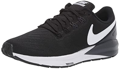 the latest 0b003 4a3ee Nike Air Zoom Structure 22 Women s Running Shoe Black White-Gridiron 6.0