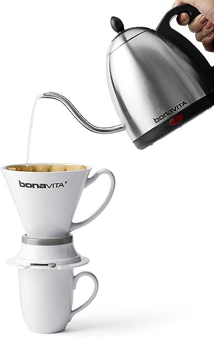 Bonavita bouilloire électrique 1.0L avec col de cygne Bec