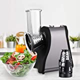 Professional Salad Maker Electric Slicer/Shredder with One-Touch Control and 4 Free Attachments for fruits, vegetables, and c
