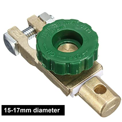 15-17mm Diameter Car Battery Disconnect Switch - Universal Top Mount  Cut-off Master Kill for Ford BMW VW GMC Buick Volvo etc