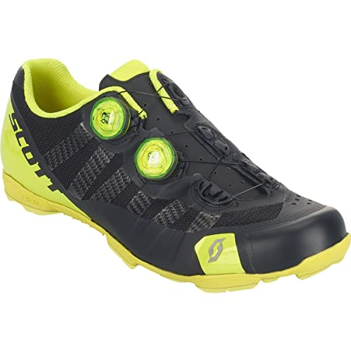Scott RC Ultimate MTB Shoe - Mens Matte Black/Gloss Neon Yellow, ...