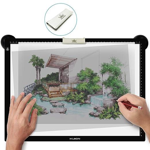 290 opinioni per Huion luminoso Animazione LED Grafica Disegno A Matita Tracing Consiglio (LA3)
