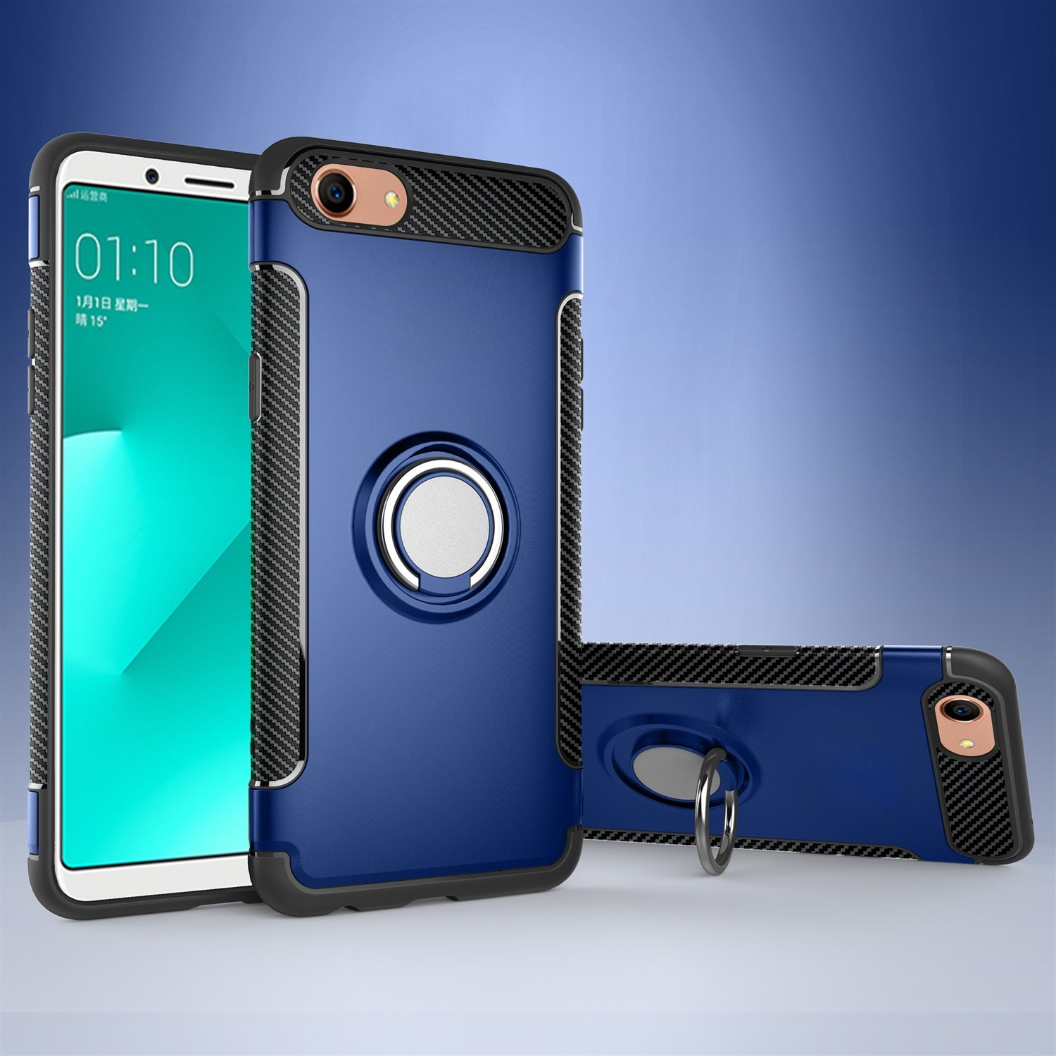 Amazon com: JDON Phone Case Cover For OPPO A83, Armor Dual Layer 2