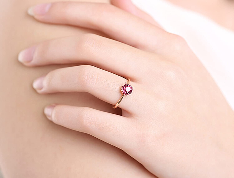 Amazon.com: Epinki 18K Gold Ring(Au750),0.8Ct Round Cut Certified ...