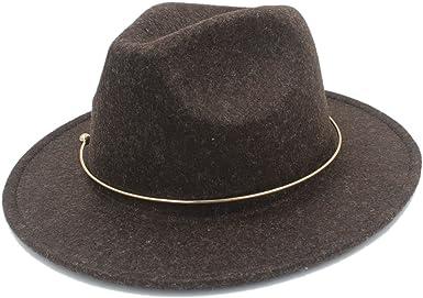 MUMUWU Womens Wide Brim Hat Winter Autumn Fedora Hat for Elegant Laday Jazz Hat Great