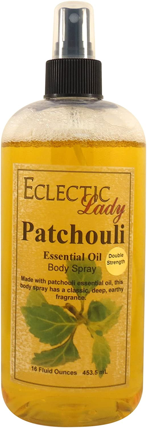 Patchouli Essential Oil Body Spray (Double Strength), 4 ounces Eclectic Lady