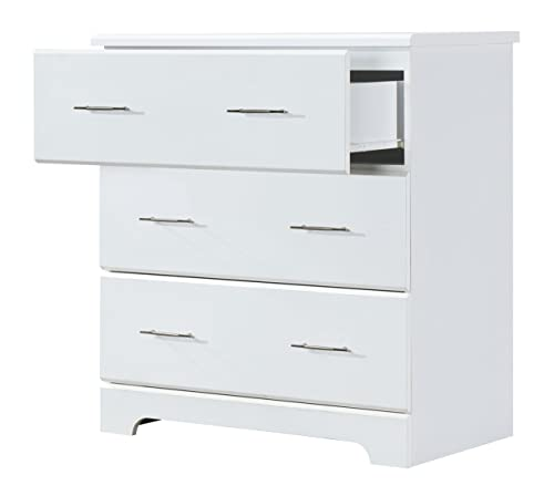 Storkcraft Brookside 3 Drawer Chest White Kids Bedroom Dresser