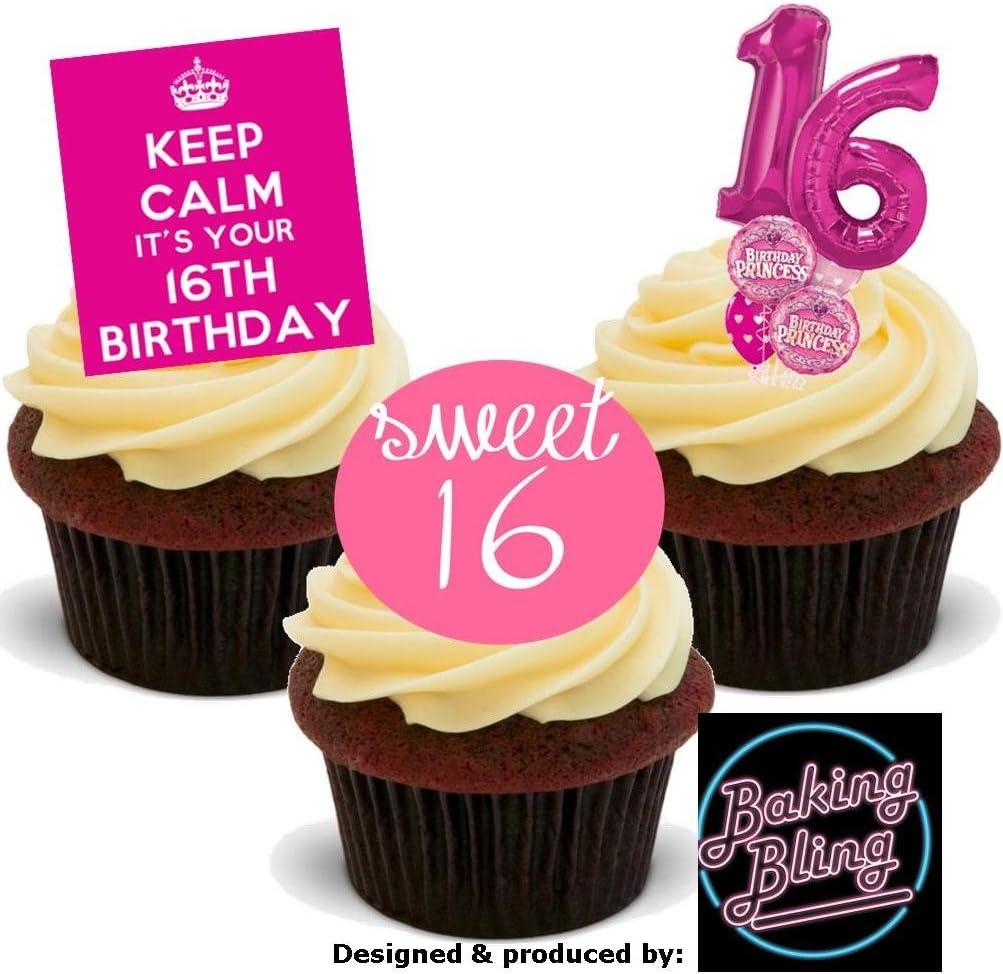 Wondrous 12 X 16Th Birthday Pink Trio Mix 16 Sweet Sixteen Girly Girls Personalised Birthday Cards Xaembasilily Jamesorg