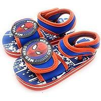Sandalias chanclas con velcro para niño Spiderman para playa y piscina