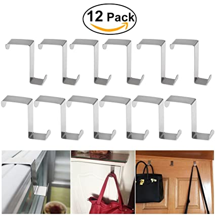 Amazon Bestomz 12pcs Over Door Hanger Stainless Steel Over