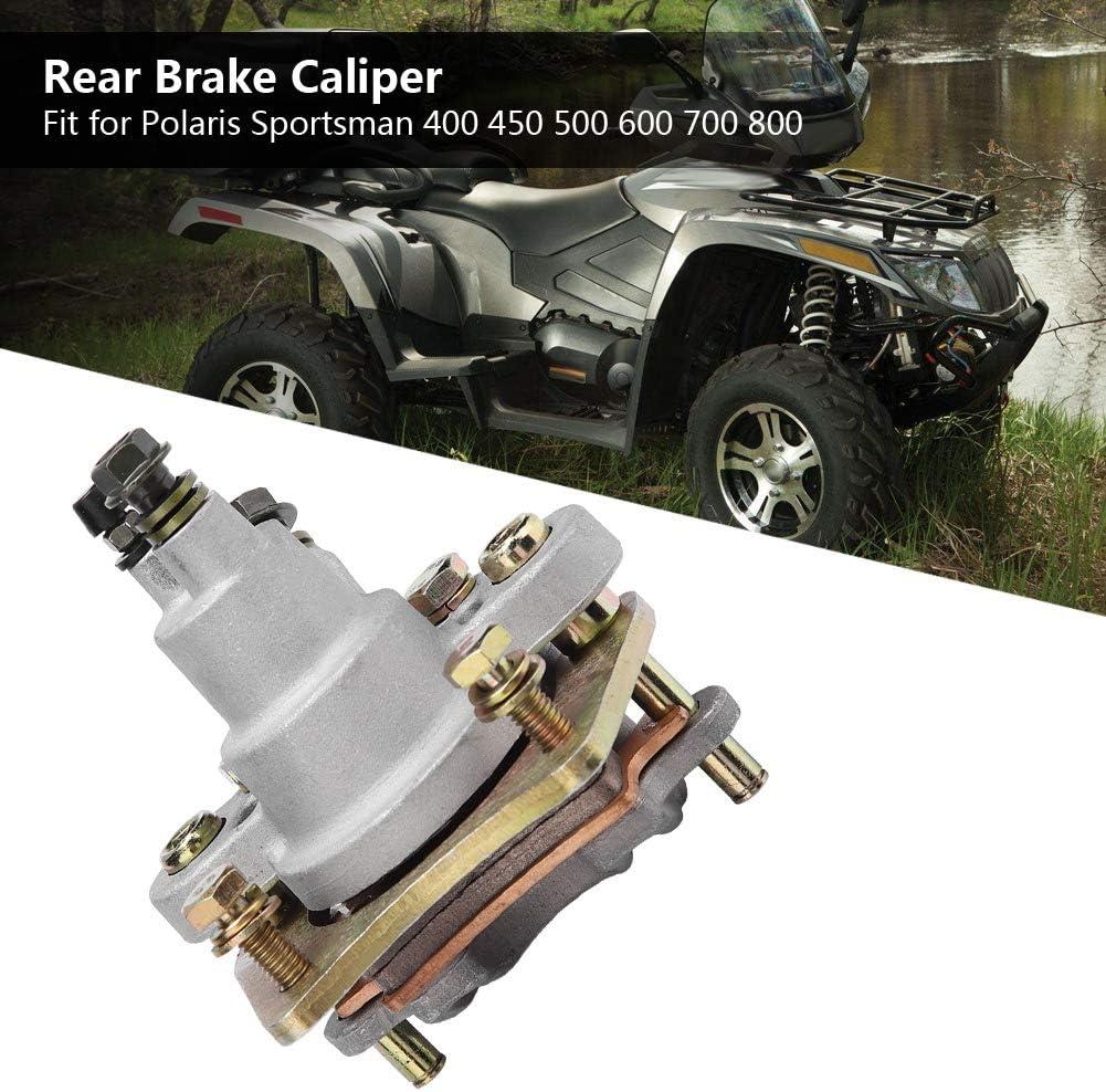 Rear Brake Caliper Heavy Duty ATV Rear Brake Caliper Assembly with Pads for Polaris Sportsman 400 450 500 600 700 800