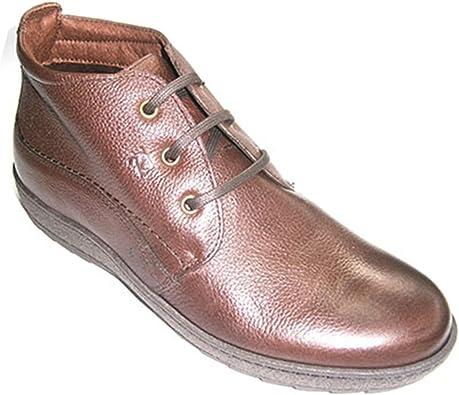 Botas Cordones Hombre con Suela de Goma Pitillos en marrón Talla 43: Amazon.es: Zapatos y complementos