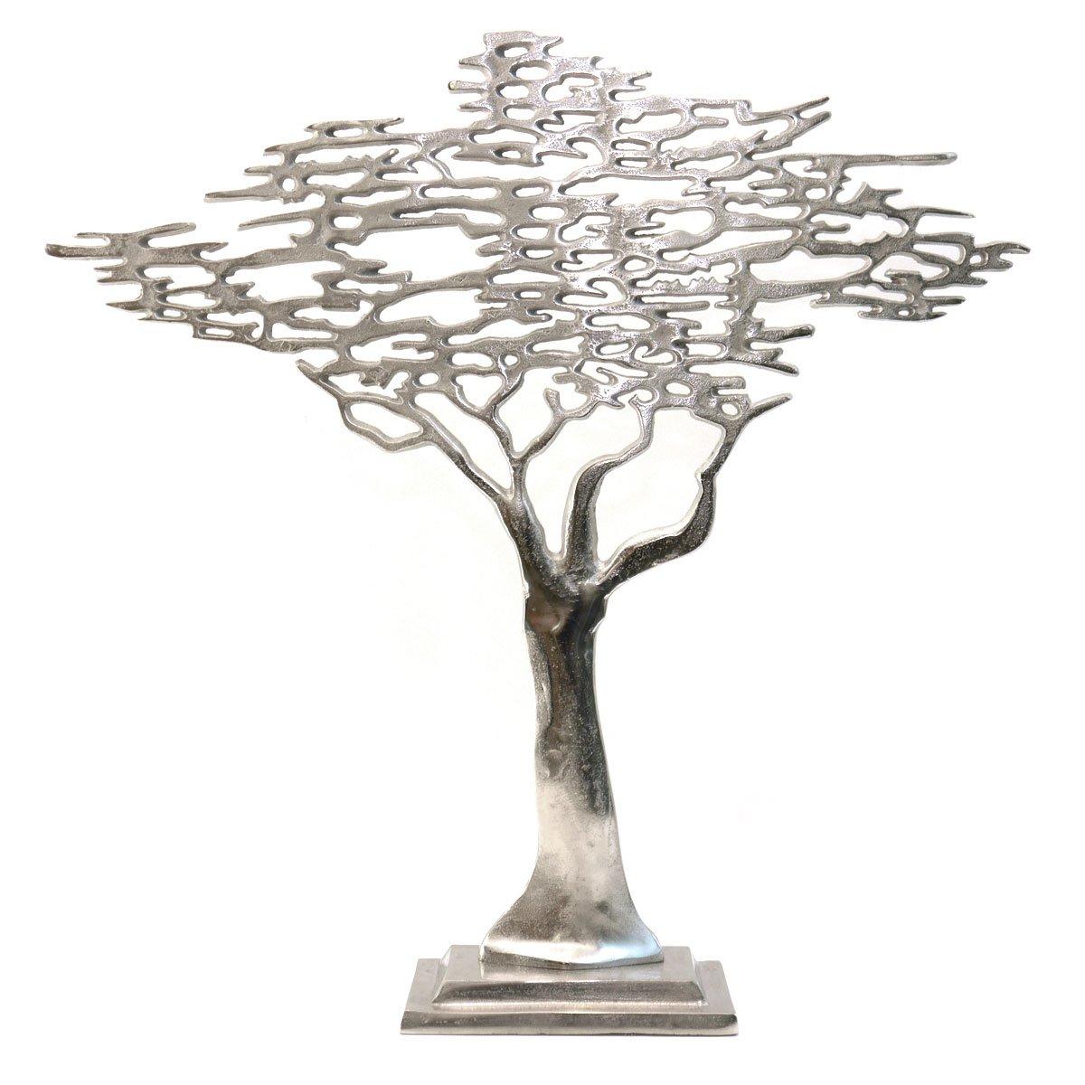 Belle Aluminium Arte Skulptur Baum Aluminium Belle raw Silber modern Landhaus Dekofigur 60 cm 3962f6