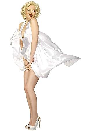 Smiffys Licenciado oficialmente Disfraz Classic de Marilyn Monroe, Blanco, con vestido sin espalda