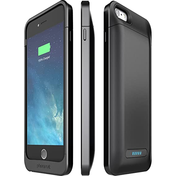 brand new f2986 2612b PhoneSuit Elite 6 Plus Ultra-Thin Battery Case for iPhone 6 Plus/6S Plus  (3,000 mAh) 130% Extra Power- Retail Packaging - Black