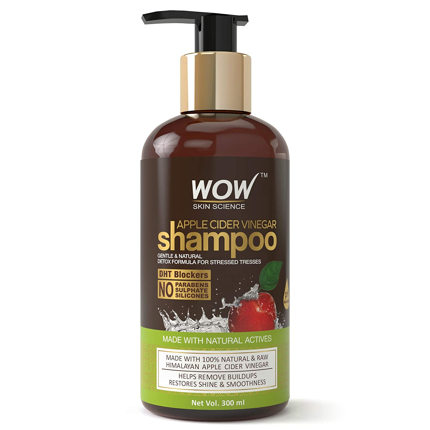 Buy WOW Apple Cider Vinegar No Parabens & Sulphate Shampoo, 300mL Online at  Low Prices in India - Amazon.in