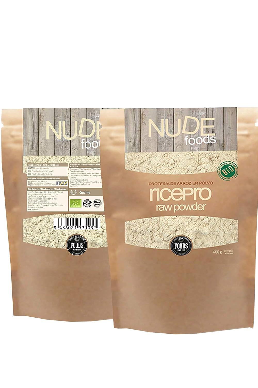 NUDE Foods Rice Protein Ecológico en Polvo sin Sabor | Proteína de ...