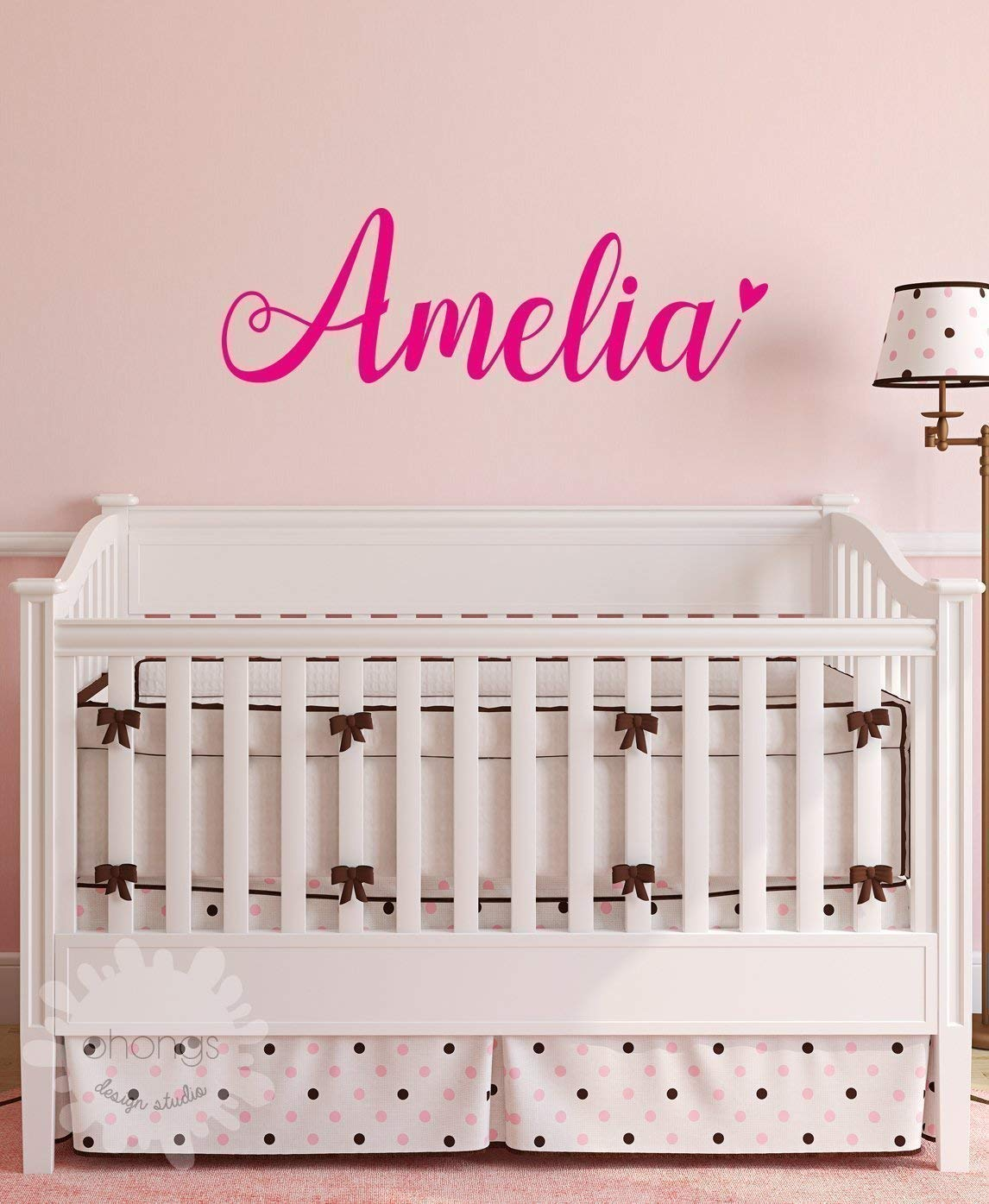 A Girls Name Decal/Custom name sticker/Personalized Wall Decal/Baby Name Decal/kids name sticker