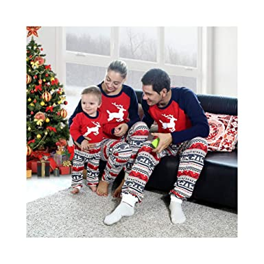 58167de0a9 Image Unavailable. Image not available for. Color  Baywell 2018 Christmas  Family Pajamas ...