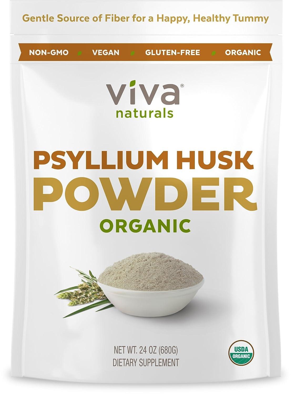 Amazoncom Viva Naturals Organic Psyllium Husk 24 Oz 15 Lb