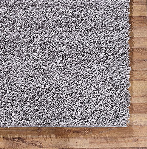 A2Z Rug Cozy Shaggy Collection 7x10-Feet Solid Area Rug - Cloud Gray
