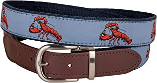product image for Lobster & Ales Cut-to-Size Leather Tab Belt by Belted Cow Company - Made in Maine