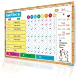 Magnetic Reward and Responsibility Chart / Flexible Dry Erase Board / Multiple Kids / Meal Planner / Bright Colors / Encourages Good Behavior / Family Chores / Academics / Exercise / Medicine Tracker