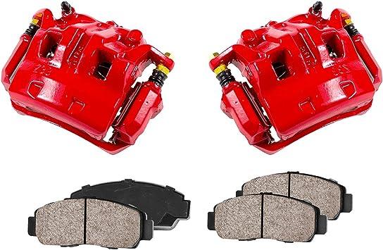 Sensors FRONT Performance Loaded Powder Coated Remanufactured Caliper Assembly Set CCK12129 Ceramic Brake Pads 2