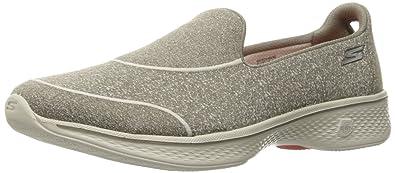 Skechers Damen Gowalk 4Super Sock 4 Sneakers Schwarz/Weiß