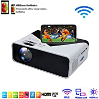 SOTEFE® WiFi Mini Projector Portable 4500 Lumens -WiFi Video Projector 1080P Full HD for iPhone Samsung Smartphone…