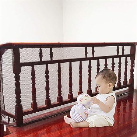 Red de seguridad para bebés para escaleras, cuna o banister, protección de balcón para niños, mascotas, juguetes, 118 x 30.3 pulgadas, protector de seguridad para interiores y exteriores (3 m) café: Amazon.es: Bebé