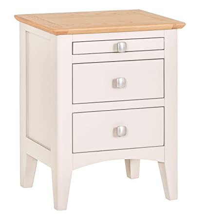 69d164cd7b12 The Furniture Outlet Malvern Shaker Ivory Painted Oak Bedside Table:  Amazon.co.uk: Kitchen & Home