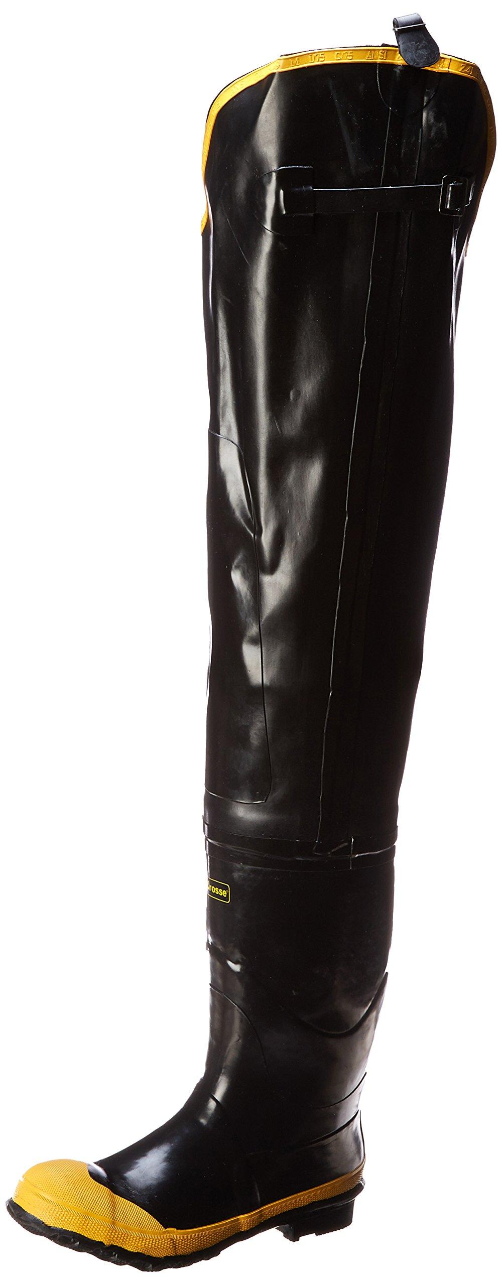 Lacrosse Men's Economy Hip 32 Inch Steel Toe Boot,Black,8 M US