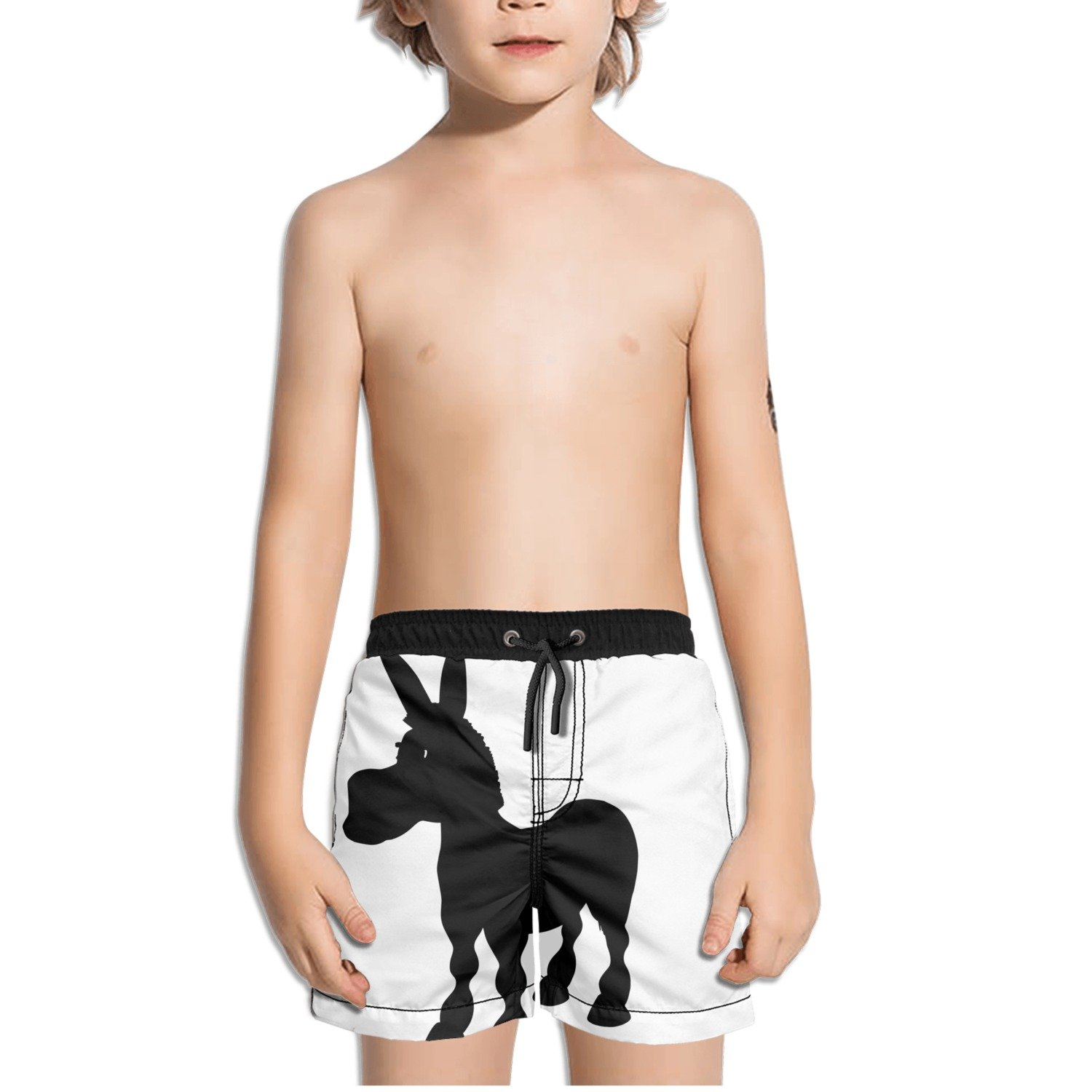 Ouxioaz Boys Swim Trunk Donkey Silhouette Beach Board Shorts