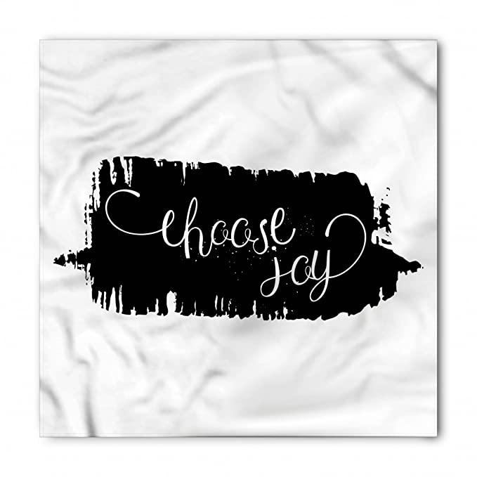 amazon com lunarable joy bandana motivational theme quote grunge