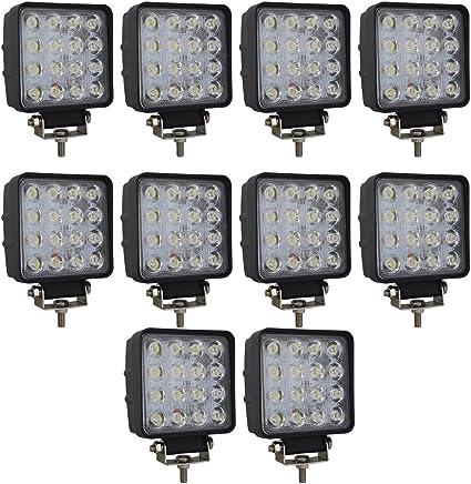 10X Work Light Lamp pod 48W SPOT LED Off Road 12V 24V Car Boat Truck Driving UTE