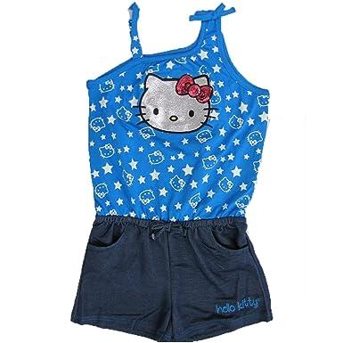 78ba42926 Hello Kitty Little Girls Royal Blue Star Glittery Applique Romper 5