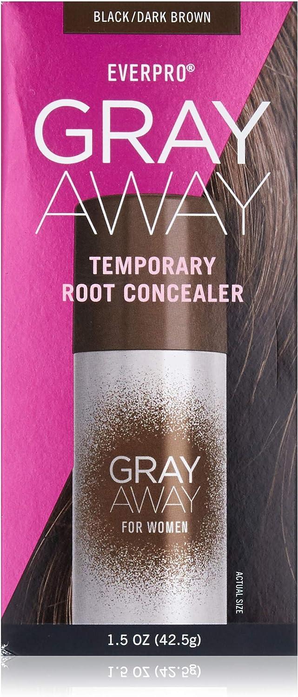 Everpro Gray Away Temporary Root Concealer, Black/Dark Brown 1.5 oz.