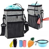 TVMALL Bolsa de entrenamiento para perros con bolsa de caca, impermeable, bolsa de almacenamiento de alimentos para…