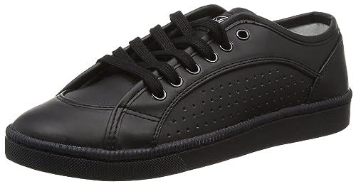 Anne, Sneakers Basses Femme, Noir, 37 EUElle