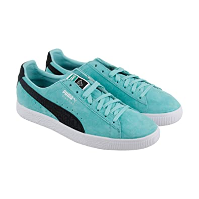 6ab4fb25aeeffa PUMA Clyde X Diamond Supply Mens Blue Suede Lace Up Sneakers Shoes ...