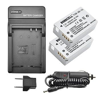 Amazon.com: Bonacell - Juego de 2 baterías y cargador para ...