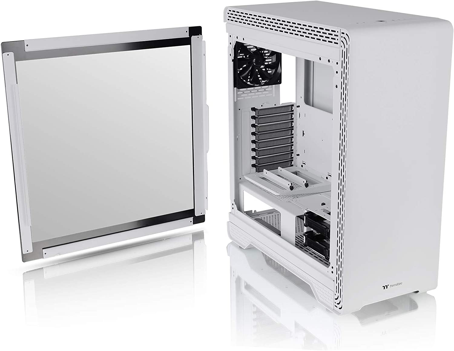 Thermaltake S500 Tempered Glass Snow Edition Mid-Tower Chassis/PC Case: Amazon.es: Informática